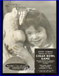 1/1 1948 cigar Bowl Game football program Missouri Valley vs West State