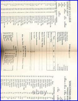 1/1 1954 Cigar Bowl Game Missouri Valley vs Wisconsin State Football Program