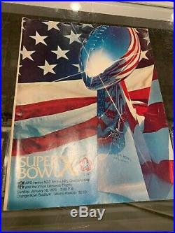 1/18 1976 Super Bowl X Pittsburgh Steelers Dallas Cowboys Program Nice