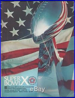 1/18 1976 Super Bowl X Pittsburgh Steelers Dallas Cowboys Program Nice Nm