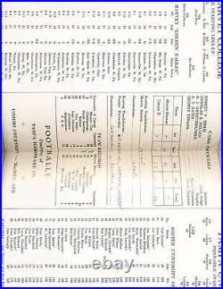 12/17 1954 Cigar Bowl Game Morris Harvey vs Tampa Football Program