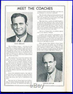12/6 1947 Kentucky vs Villanova Great Lakes football Bowl Game program