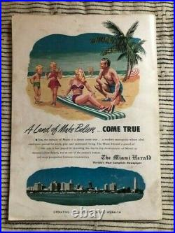 15th Annual Orange Bowl Classic 1949 From The Bobby Walston Estate (Autographed)