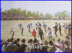 1902 Rose Bowl Football Litho Michigan vs Stanford by Robert Childress 1981 Rare