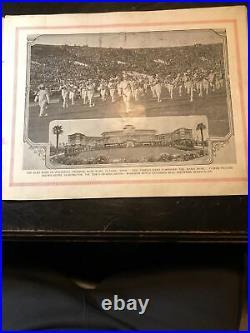 1926 Rose Bowl Pictorial Alabama vs Washington Champ Pickens