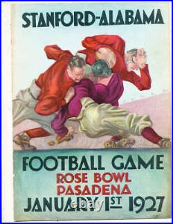 1927 Rose Bowl Football Program Alabama vs Stanford stadium ed