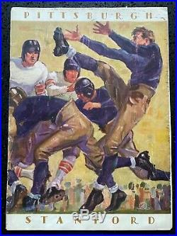 1928 Pittsburgh vs Stanford ROSE BOWL Football Game Program