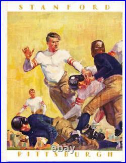 1928 Rose Bowl Football Program Pittsburgh vs Stanford