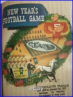 1929-1939 Rose Bowl Programs Signed Erny Pinckert Gus Shaver Psa Authentic