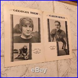 1929 NCAA Rose Bowl Football Program Georgia Tech VS California JAN 1ST RARE
