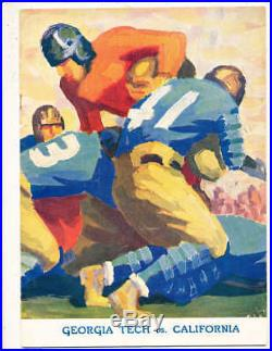 1929 Rose Bowl Football Program Georgia Tech vs California a1
