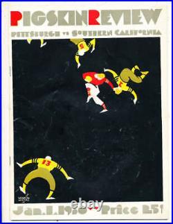 1930 Rose Bowl Football Program Pittsburgh vs USC