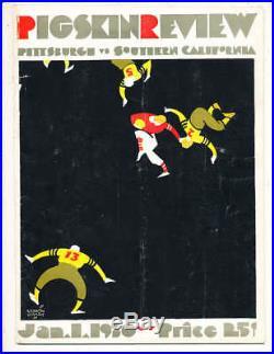 1930 Rose Bowl Football Program Pittsburgh vs USC a1