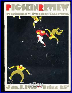 1930 Rose Bowl Football Program Pittsburgh vs USC vg