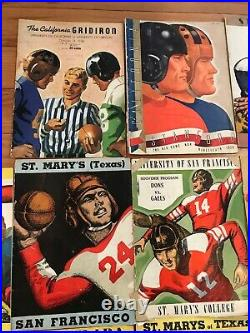 1930s College Football Game Programs Lot Of 33! Gridiron Goal Post Rose Bowl
