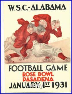 1931 Rose Bowl Football Program Alabama vs Washington State