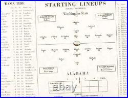 1931 Rose Bowl Football Program Alabama vs Washington ex