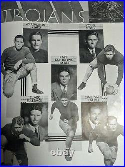 1933 Pittsburgh Panthers PITT VS USC SOUTHERN CAL ROSE BOWL Football Program