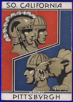 1933 Pittsburgh vs USC ROSE BOWL Football Game Program/Ticket Stub +