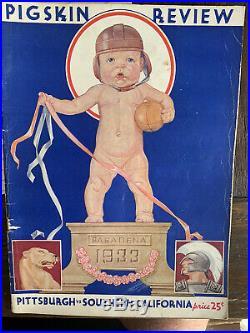 1933 ROSE BOWL PROGRAM USC TROJANS PITT PANTHERS College Football