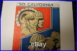1933 Rose Bowl Ncaa Football Program Pittsburgh Vs. Usc Rare 1/2/33 Pasadena