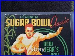 1935 Temple Tulane Sugar Bowl College Football Game Program Owls 1st Sb Ever