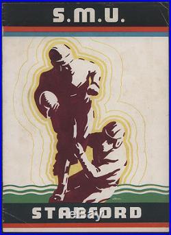 1936 SMU vs Stanford ROSE BOWL Football Game Program