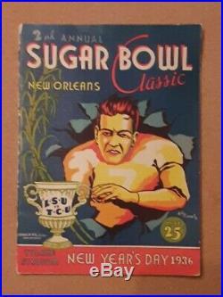 1936 Sugar Bowl Game LSU vs TCU College Football Program