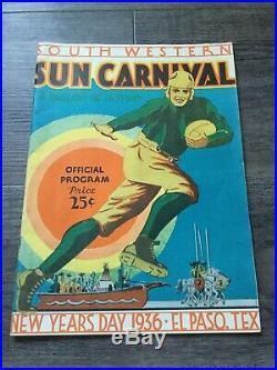 1936 Sun Bowl college football game program New Mexico State Hardin-Simmons