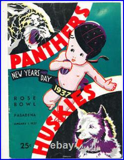 1937 Rose Bowl Football Program Pittsburgh vs Washington a1