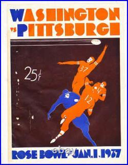 1937 Rose Bowl Football Program Washington vs Pittsburgh stadium edition