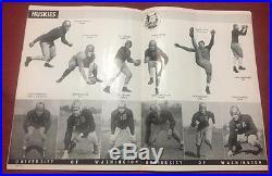 1937 Rose Bowl Football program, Washington Huskies v Pitt Panthers, crease
