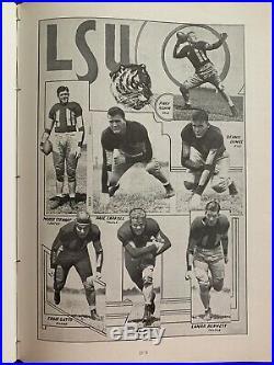 1937 Sugar Bowl L. S. U. Vs Santa Clara Football Program/GAYNELL TINSLEY