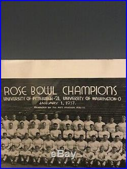 1937 University Of Pittsburgh Rose Bowl Champs 10x14 Team Photo