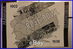 1938 Alabama vs California Rose Bowl Football Program. Great Condition