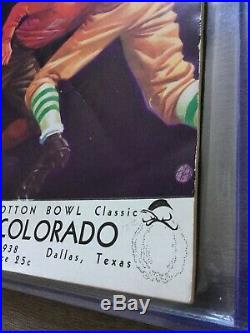 1938 Colorado Rice Cotton Bowl Football Game Program Second Cotton Bowl Ever
