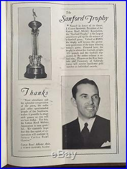 1938 Historic 2nd Cotton Bowl Colorado vs Rice Football Program/WHIZZERWHITE