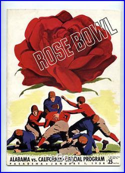 1938 Rose Bowl RARE California v Alabama Football Program VTG Bears v Tide