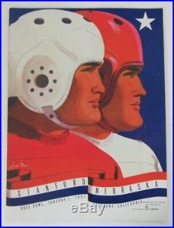 1938 Rose Bowl Stanford vs. Nebraska College Football Game Program 151846
