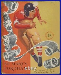 1938 St. Mary's Team Autographed (38) Football Program 1939 Cotton Bowl Champs