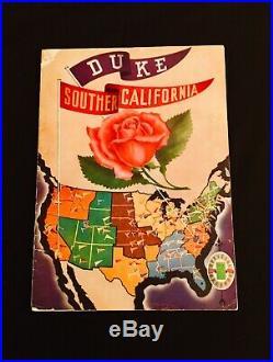 1939 Rose Bowl Football Program Duke vs USC- Pigskin Review