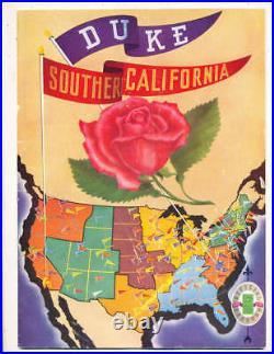 1939 Rose Bowl Football Program USC vs Duke a1