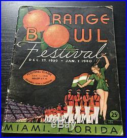 1940 GEORGIA TECH MISSOURi ORANGE BOWL COLLEGE FOOTBALL GAME PROGRAM TIGERS