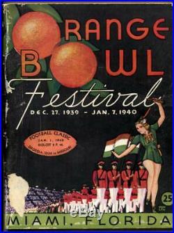 1940 Orange Bowl Football Game Program Georgia Tech Missouri