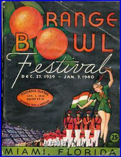 1940 Orange Bowl football Program Georgia Tech vs Missouri
