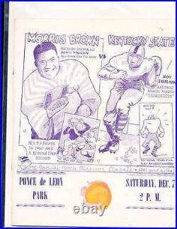 1940 Peach Blossom Classic Bowl Football program Morris Brown vs Kentucky State