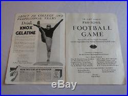 1940 Pro Bowl Football 3rd annual Game PROGRAM Chicago Bears All Stars Original