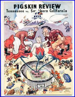 1940 Rose Bowl Football Program Tennessee vs USC
