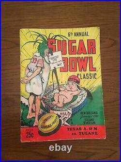 1940 Sugar Bowl Classic Football Program