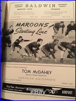 1941 7th Orange Bowl Football Program & Stub Mississippi State VS Georgetown